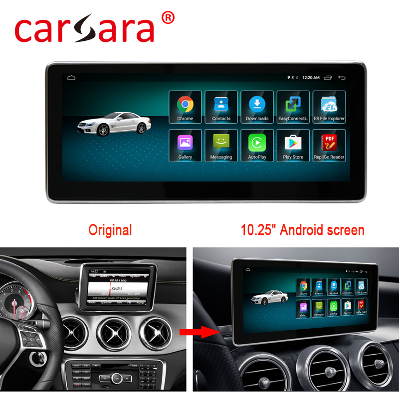 4+64G Android Multimedia Touch Screen <font><b>for</b></font> <font><b>Mercedes</b></font> Benz GLA CLA A Class W176 Car Comand Display upgrade with <font><b>GPS</b></font> Navigation image