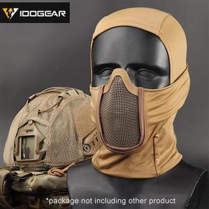 Image 3 - IDOGEAR Tactische Bivakmuts Masker MESH Airsoft Mask Full Face Airsoft Masker Camo Beschermende kleding 3612