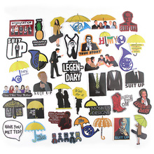 37pcs/lot How I Met Your Mother Creative Sticker for Paper Notebook Adhesive Tape Car Luggage Diy Decoration Stickers AT2869