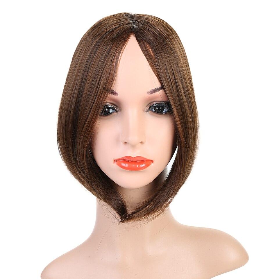 HOUYAN, модные длинные волосы на заколках спереди, боковая бахрома, накладные волосы, настоящие натуральные синтетические волосы с челкой - Цвет: 2I30