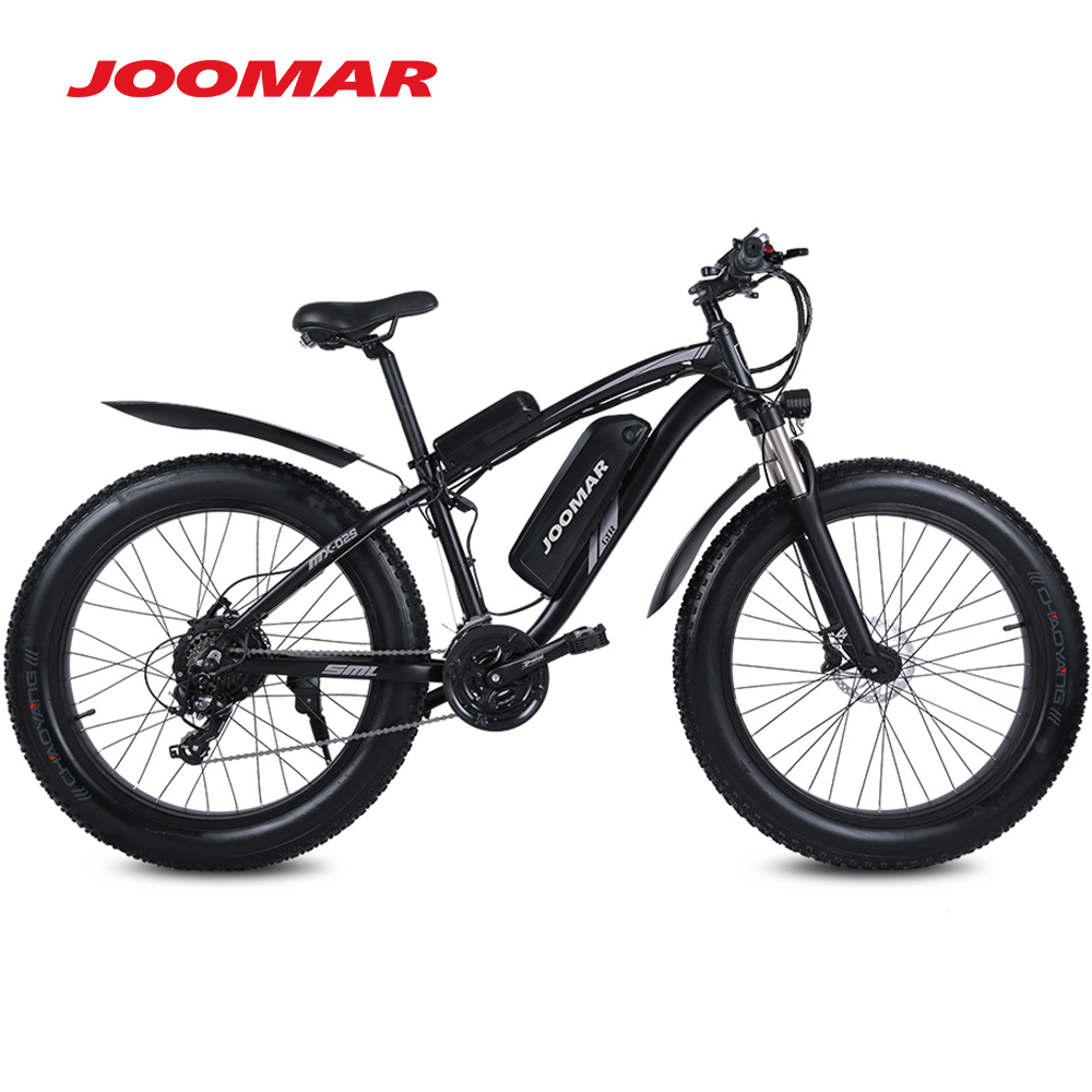 JOOMAR Electric Bike 1000W 48V Motor 4.0 Fat Tire Mountain Bike Beach Snow Bicycle for Men MTB Ebike Kit 17AH Battery JM02S Plus 3