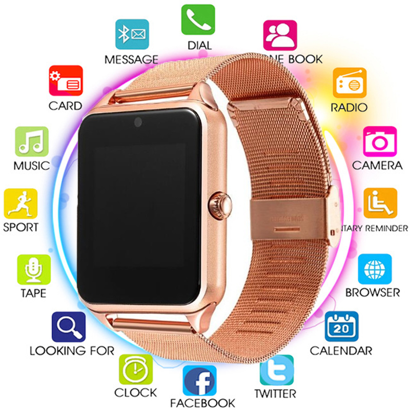 Hot Sale Bluetooth Smart Watch Z60 Men Women Bluetooth 2G Smartwatch Support SIM Wristwatch for IOS Android with 16GB TF CARD