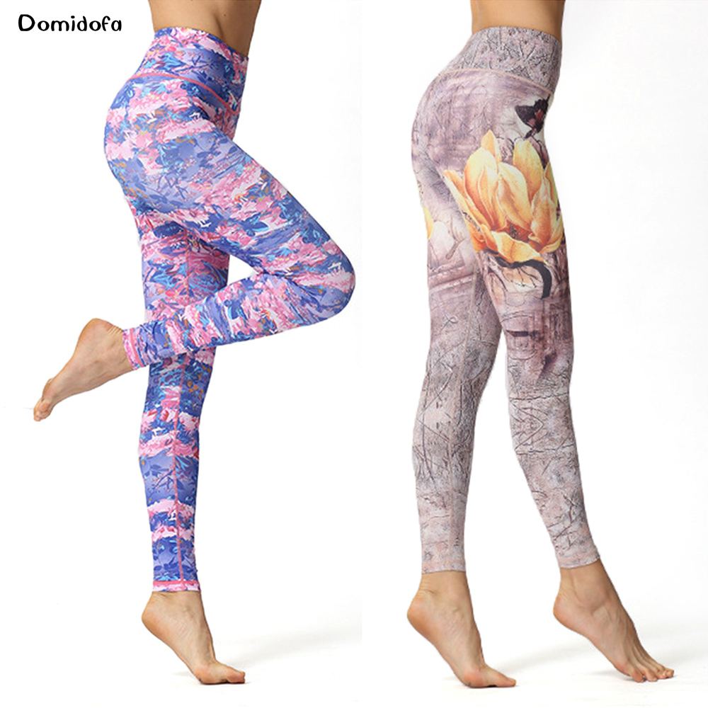 New printed leggings for women outdoor cycling and sweating fitness wear dance body yoga pants in Yoga Pants from Sports Entertainment