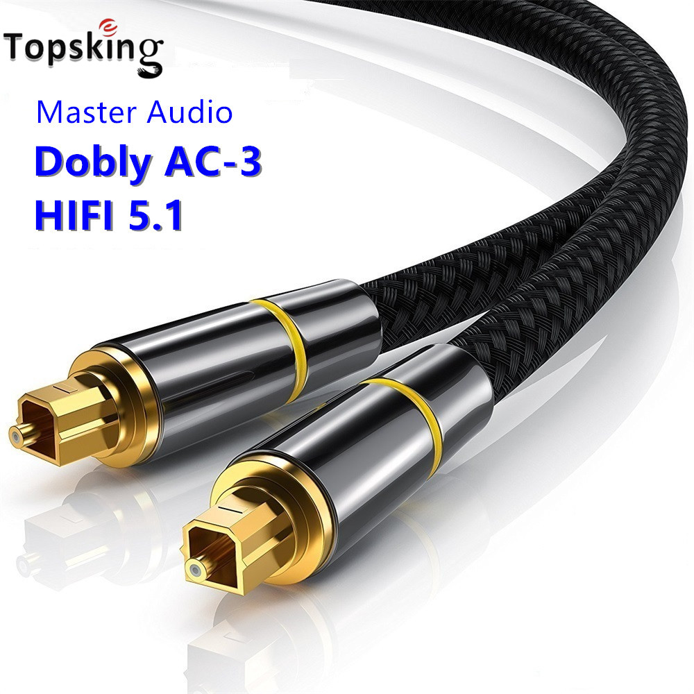 Digital Optical Audio Cable Toslink 1m 2m 5m 10m SPDIF Coaxial Cable For Amplifiers Blu-ray Player Xbox 360 Soundbar Fiber Cable