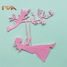 Dies Scrapbooking 2020 Lovely Girl Tree Metal Cutting Playing Under The Paper Craft Album Cut And Embossing