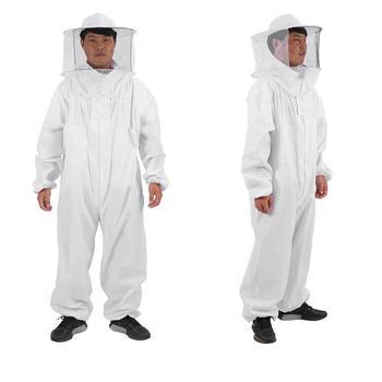Bawełna Full Body odzież pszczelarska kapelusz odzież ochronna Unisex obroń kombinezon pszczelarski pszczoła z wyposażeniem ochronnym rozmiar opcjonalnie tanie i dobre opinie Zerodis CN (pochodzenie) Beekeeping Suit 65 Cotton + 35 Polyester White Easy to machine wash High quality Practical