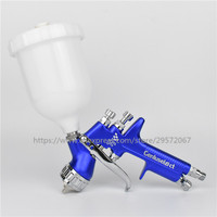 Blue color SPRAY GUN GFG pro England Professional 1.3mm Gravity Feed auto paint painted high efficiency