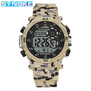 SYNOKE Digital Watch For Men Waterproof Shock Military Sport Watch Men Sport Watch LED Display Wristwatch Fashion Reloj Hombre