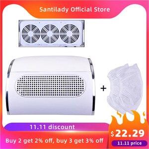 Image 1 - Colector de succión de polvo de uñas potente con 3 ventiladores, aspiradora poco ruidosa, herramientas de manicura con 2 bolsas colectoras de polvo, Nail Master