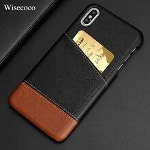 Xs max кожаный чехол-кошелек с отделением для кредитных карт для Iphone X 8 7 Plus Xr Роскошный тонкий жесткий чехол-накладка для IPhone 11 Pro Max чехол