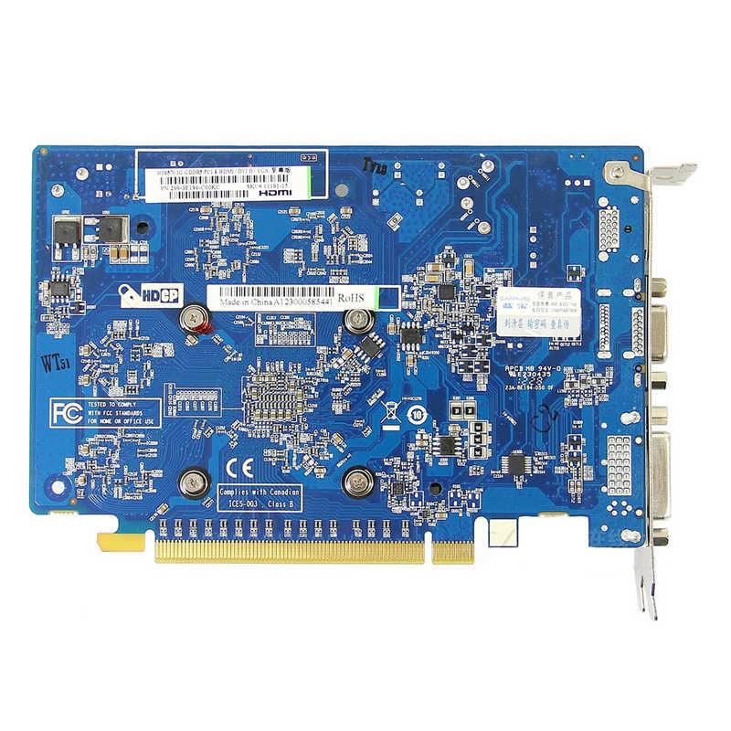 ياقوت HD6570 1GB AMD بطاقة فيديو وحدة معالجة الرسومات راديون HD 6570 GDDR5 بطاقات الرسومات ألعاب كمبيوتر للفيديو بطاقات خريطة HDMI مستوى الدخول