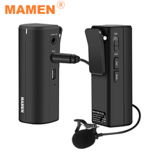 MAMEN 2.4G Wireless Microphone Real-time Monitoring Lavalier Microphone