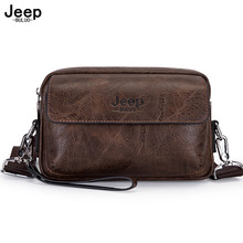 JEEP BULUO Multi function Business Handbags Men New Man s Shoulder Bag Large Capacity Leather Messenger Bags Crossbody Fashion
