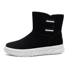 Shoes Winter Sneakers Snow-Boots Black Fashion Blue Ankle Men Foo Plus-Size