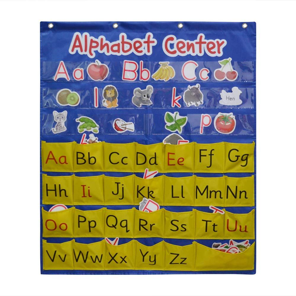 Godery Alphabet Center Pocket Chart, Word Families, ABCs, Letter, Word Recognition