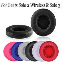 Para batidas solo 2 3 fone de ouvido sem fio ultra-macio caso capa bluetooth fone de ouvido substituição macio almofada earpads moda accessorie
