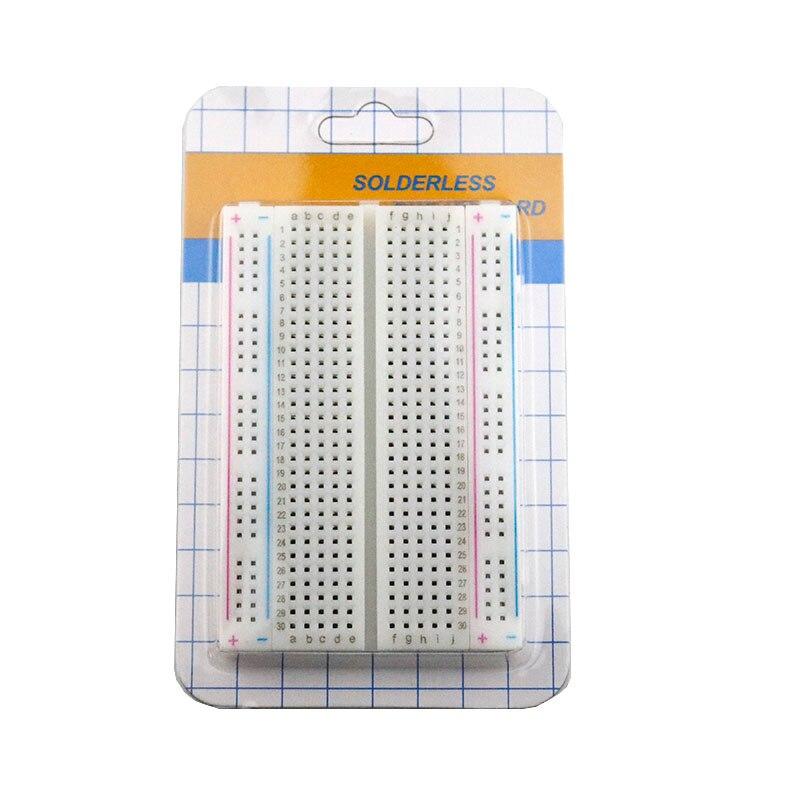 Image 3 - 20PCS Mini bread board/breadboard 8.5cm x 5.5cm 400 holes Transparent/White DIY Electronic experimental Universal PCB QualityConnectors   -