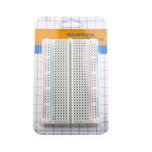 Image 3 - 20PCS Mini brot bord/breadboard 8,5 cm x 5,5 cm 400 löcher Transparent/Weiß DIY Elektronische experimentelle universal PCB Qualität