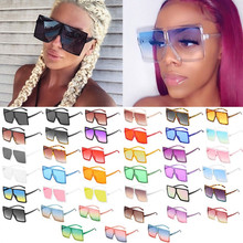 Óculos de sol quadrados de grandes parágrafo como mulheres 2021 marca de luxo preto óculos de sol feminino grandes toneladas a granel