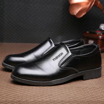 OLOMM 2019 men #8217 s summer dress business black work shoes men #8217 s wedding shoes non-slip casual shoes DD-47 tanie i dobre opinie LEOSOXS RUBBER Lace-up Pasuje prawda na wymiar weź swój normalny rozmiar Podstawowe Stałe Wodoodporna Wiosna jesień