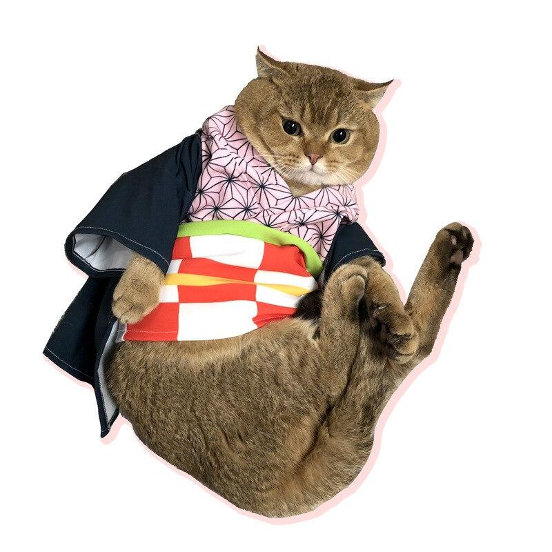 Demon Slayer Kimetsu No Yaiba Cats Kamado Tanjirou Cosplay Cape Costumes Full Sets Agatsuma Zenitsu Orange Cape Suits Costumes