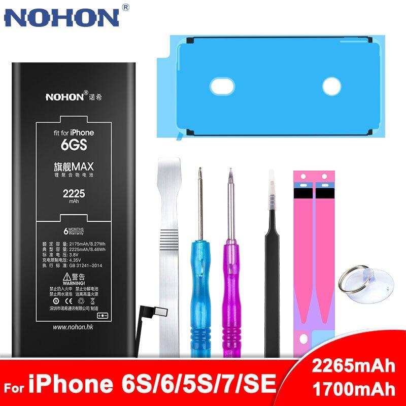 NOHON Bateria Para iPhone 6S 6 5S 5C 7 SE Substituição Bateria Para iPhone6S iPhone6 iPhone7 Telefone Li- baterias de polímero de Ferramentas Gratuitas