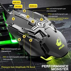 Image 4 - Souris Gaming professionnelle filaire 6400dpi, souris dordinateur portable PC, souris ergonomique avec définition RGB