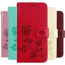 Flor 3d caso de couro para huawei honor 5a 5 a LYO-L21 capa carteira flip caso para huawei y5 ii Cun-U29 Cun-L21 titular do cartão capa