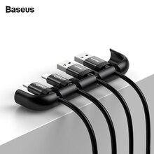 Baseus USB Кабельный органайзер управление Winder протектор провода шнур держатель закаленное Пленка Установка инструмент для iPhone XS Max XR X