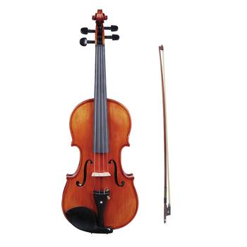 4 4 skrzypce akustyczne skrzypce drewno świerkowe płyta przednia klon falisty tablica dla początkujących Student Performer z futerał na skrzypce Shoulde tanie i dobre opinie 4 4 acoustic violin Świerk Other Ciemne drewno Maple Heban