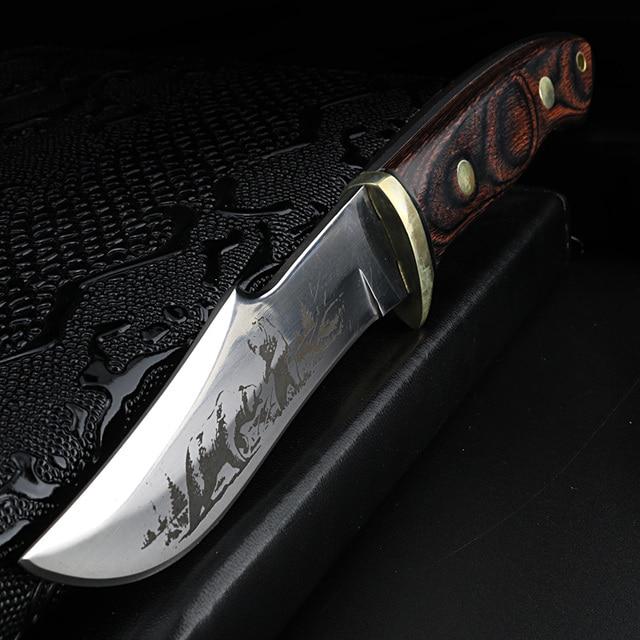 XUAN FENG 옥외 야영 칼 높은 경도 전투 칼 생존 칼 사냥 칼 똑 바른 칼