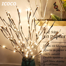 2018 New 20 LEDs Branches Light Fairy Night Light Willow Twig Branch Battery Powered For Romantic Home Room Decor Drop Ship