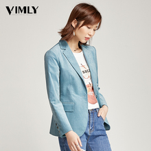 Vimly Office Ladies Solid Blazer Vintage Corduroy Women Business Jacket Coat Elegant Autumn Winter Outwear