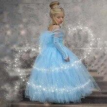 купить Robe Elegant Girls Princess Dress Children Evening Party Dress 2019 Kids Dresses For Girls Clothing Flower Girls Wedding Gown дешево