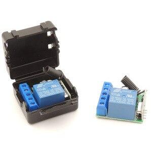 Image 5 - 433 MHz pilot bezprzewodowy rf DC 12V 10A 1CH przekaźnik odbiornik i nadajnik do drzwi elektrycznych/transmisja sygnału