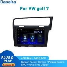 10.2 أندرويد 10 راديو السيارة لتحديد المواقع لشركة فولكس فاجن جولف 7 اليد اليمنى محرك الوسائط المتعددة 2013   2017 Golf7 RHD ستيريو DSP IPS Carplay 1280*720