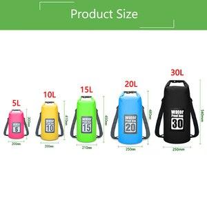 Image 5 - 5L/10L/15L/20L/30L Waterproof Bags Dry Bag PVC Waterproof Backpack Sports Bag Rafting Swimming Backpacks Impermeable Dry Bag