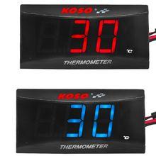 Digital led koso medidor de temperatura da água 0 120 400 graus centígrados motocicleta do carro com sensor para nmax cb cb500x