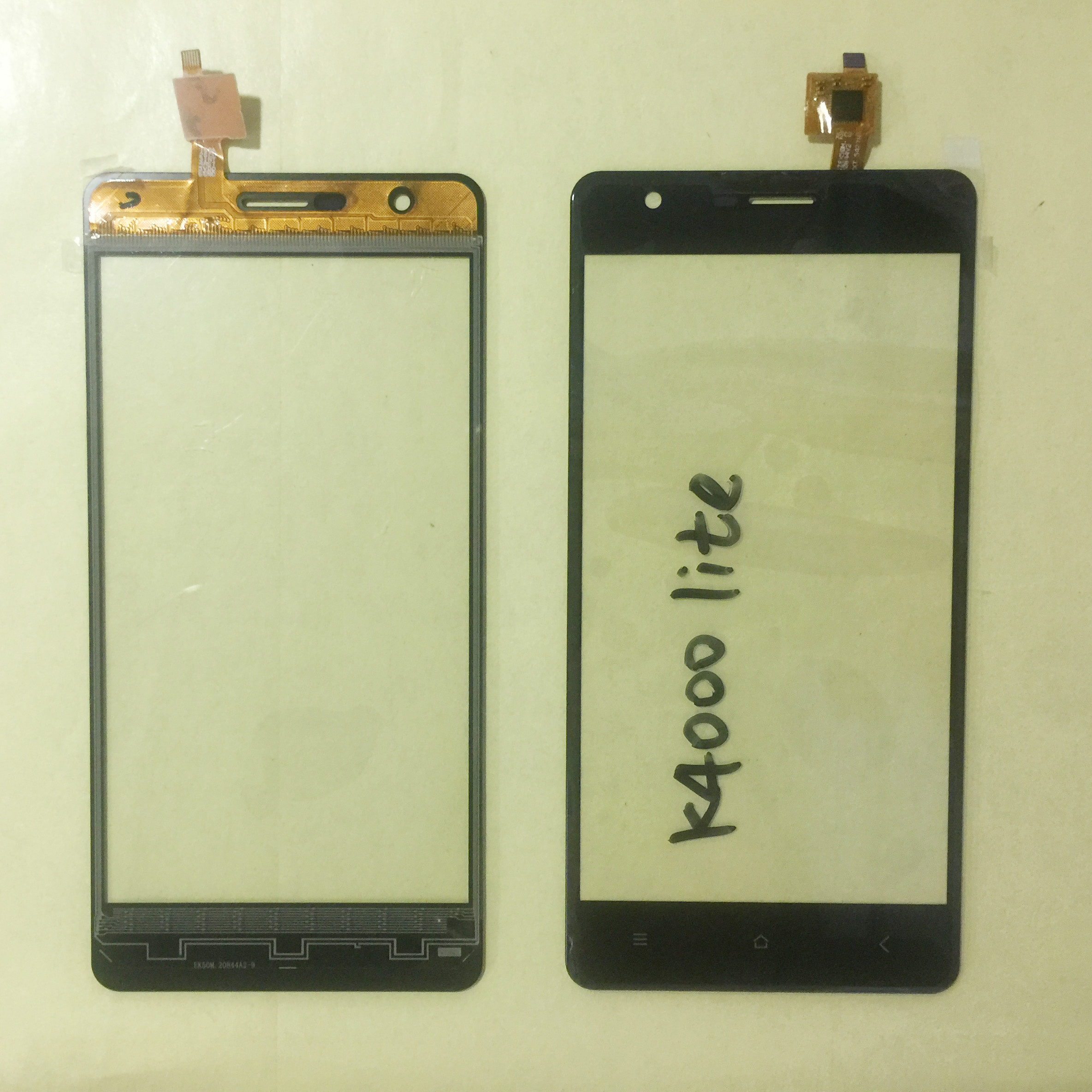 5.0'' Mobile Phone Touch Glass For <font><b>Oukitel</b></font> <font><b>K4000</b></font> Lite Touch Screen Glass Digitizer Panel Lens Sensor No LCD Display image