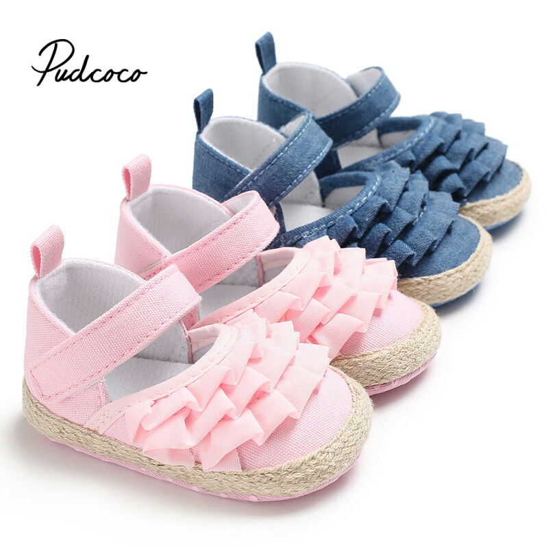 2020 Summer Newborn Shoes Infant Baby Solid Girls Soft Prewalker Casual Flats Canvas Sneakers Shoes Fashion Causal First Walkers