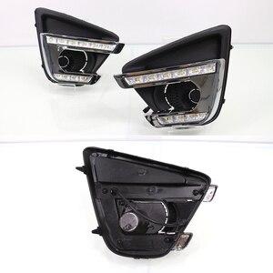 Image 3 - 2 pçs turn signal estilo led carro drl luzes diurnas com buraco da lâmpada de nevoeiro para mazda cx 5 cx5 cx 5 2012 2013 2014 2015 2016