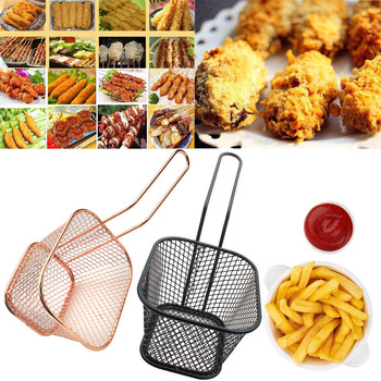 Electroplate Stainless Steel Mini Frying Net Square Block Mesh Kitchen Tools image
