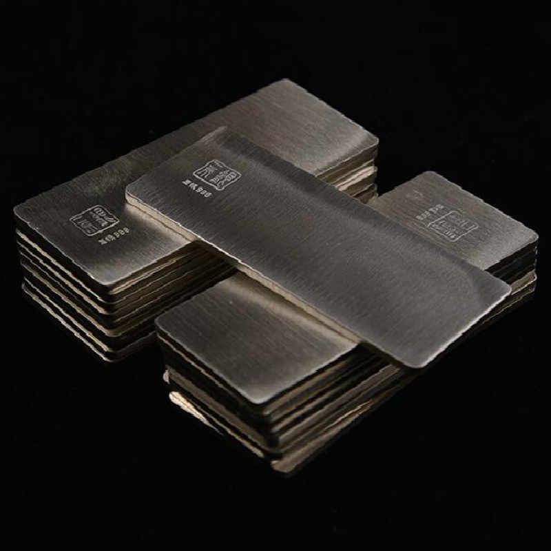 10G 49*19*0.7mm Fine Silver S999 Pure Silver Bar  Raw Silver Material To Make Silver Earring 999 Sterling Silver Investment