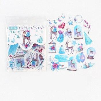 40 шт./упак. скандинавские зимние рождественские олени, самоклеящиеся наклейки, альбом, дневник, ручная запись, декоративные наклейки