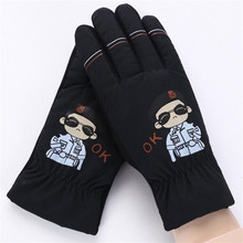 Зимние Детские теплые перчатки с героями мультфильмов, Детские полные митенки для пальцев, модные уличные перчатки для мальчиков, ветрозащитная рукавица