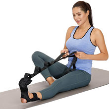 Yoga ligament alongamento cinto com segurança alongamento treinamento cinta acidente vascular cerebral reabilitação cinta com laços para ballet bandas de yoga