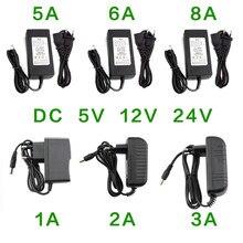 24 V zasilacz 5V 12V 1A 2A 3A 5A 6A 8A zasilacz DC 5 12 24 V moc woltów zasilacz taśma oświetleniowa Led lampa Adapter
