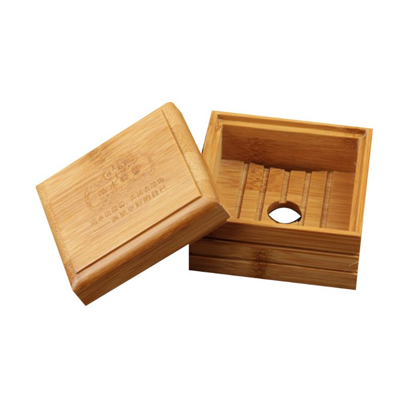 Environmentally Soap Dish Box Wood Container Waterproof Travel Cas Case Holder