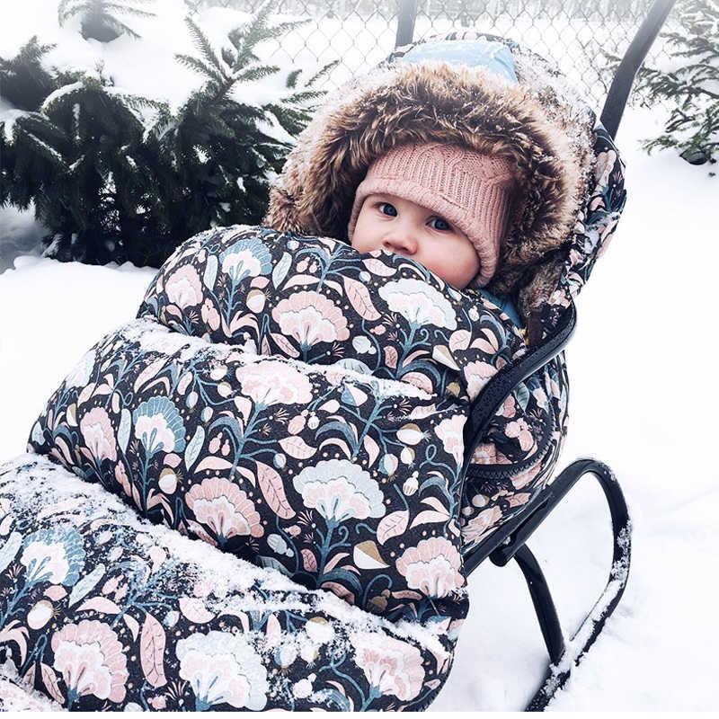 Детская прогулочная коляска конверты теплый зимний спальный мешок на коляску  для новорожденного Конверты