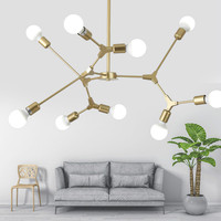 Nordic postmodern personality creative branches LED molecular chandelier luxury home living room bedroom modern led chandeliers